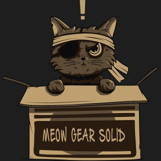 "T-Shirt ""Meow Gear Solid"""