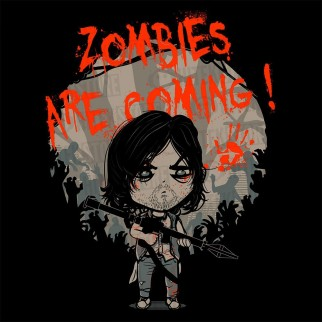 "T-Shirt ""Zombies are coming"""