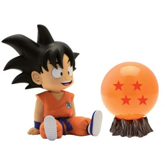 Pack figurine tirelire Goku + Boule de cristal Dragon Ball