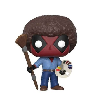 "Figurine Pop Deadpool peintre ""Bob Ross"""