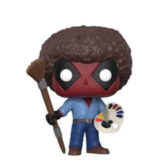 "Figurine Pop Deadpool peintre ""Bob Ross"""