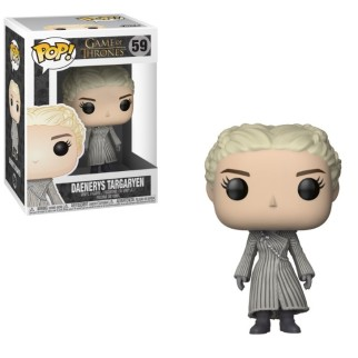 "Figurine Pop Game of Thrones ""Daenerys en manteau blanc"""