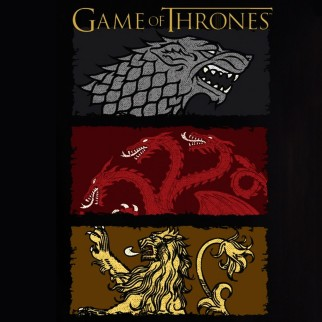 "T-Shirt Game of Thrones ""Maisons principales"""