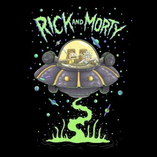 "T-Shirt Rick & Morty ""Space"""