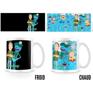 "Mug thermoréactif Rick & Morty ""Mr Meeseeks / Mr Larbin"""