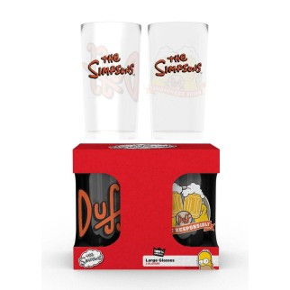 Pack 2 verres Simpson + Duff Energy Drink offerte