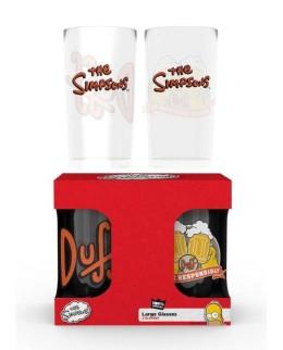 Pack 2 verres Simpson + Duff Energy Drink offerte