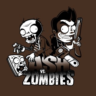 "T-Shirt ""Ash vs Zombies"""