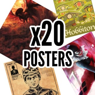 20 posters collector Hitek