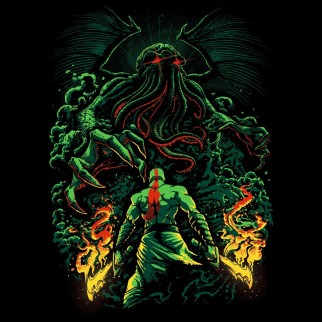 "T-Shirt ""Cthulhu vs guerrier"""