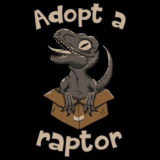 """T-Shirt """"Adopt a raptor"""""""