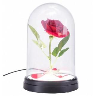 Lampe rose enchantée La Belle et la Bête