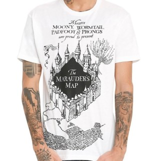 "T-Shirt Harry Potter ""Carte du Maraudeur"""