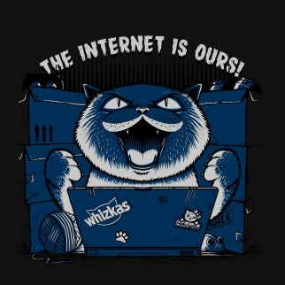 "T-Shirt ""The Internet is ours"""