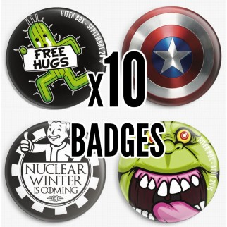 10 badges collector Hitek