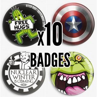 10 badges collector Hitek