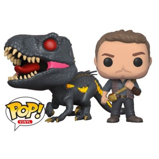 "Pack Figurines Pop Jurassic World ""Owen Grady + Indoraptor"""