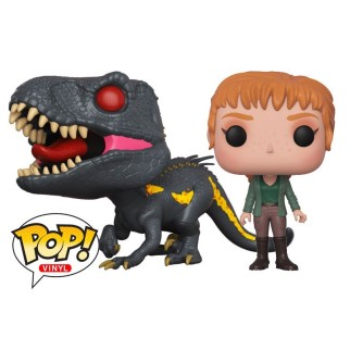 "Pack Figurines Pop Jurassic World ""Claire Dearing + Indoraptor"""