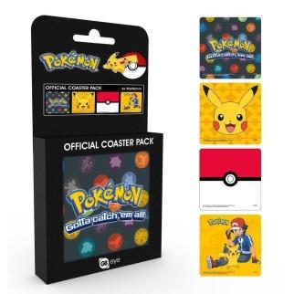 Pack de 4 dessous de verre Pokémon