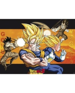 Poster Officiel XL - Dragon Ball Z - Goku VS Vegeta