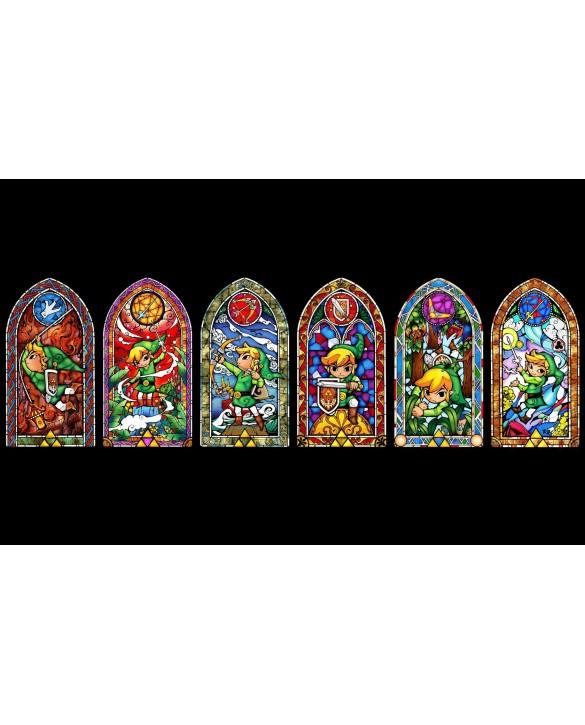 Poster Officiel Zelda - Fresque Vitrail XL