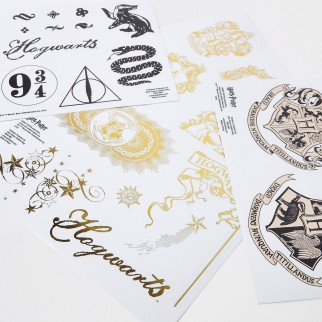 4 planches de stickers Harry Potter