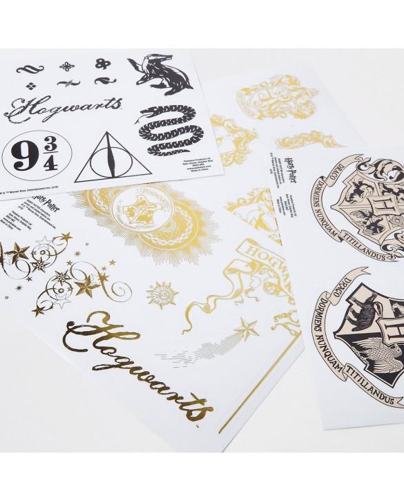 4 planches de stickers Harry Potter