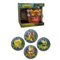 Mug Uka-Uka + 4 Dessous de verres 3D Crash Bandicoot