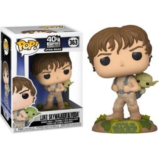 "Figurine Pop Star Wars ""Luke w/ Yoda"""
