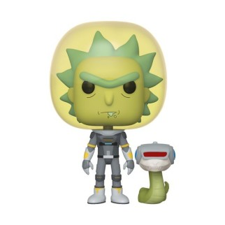 "Figurine Pop Rick&Morty - ""Rick combinaison spatiale avec serpent"""
