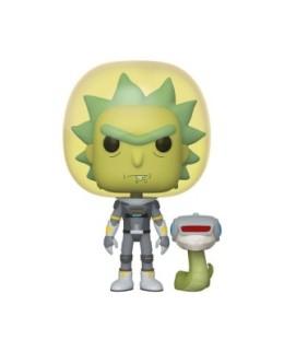 """Figurine Pop Rick&Morty - """"Rick combinaison spatiale avec serpent"""" N°689"""