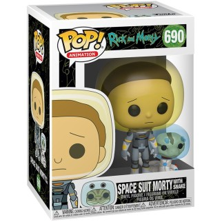 "Figurine Pop Rick&Morty - ""Morty combinaison spatiale avec serpent"""