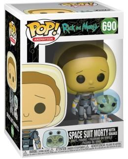 """Figurine Pop Rick&Morty - """"Morty combinaison spatiale avec serpent"""" N°690"""