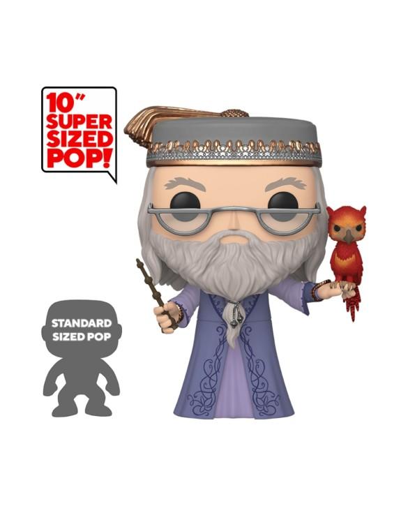 "Figurine Pop XL Harry Potter - ""Dumbledore avec Fumseck"""