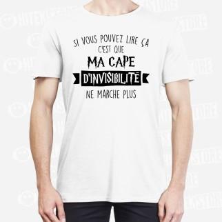 """T-shirt """"Cape d'invisibilité """""""