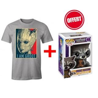 """T-shirt """"I Am Groot"""" + Pop Rocket Raccoon OFFERTE"""
