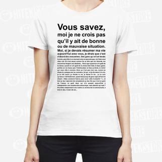 """T-shirt """"C'est une bonne situation ça scribe ?"""""""