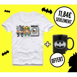"T-shirt ""Batbuanderie"" +  Mug Batman phosphorescent OFFERT"