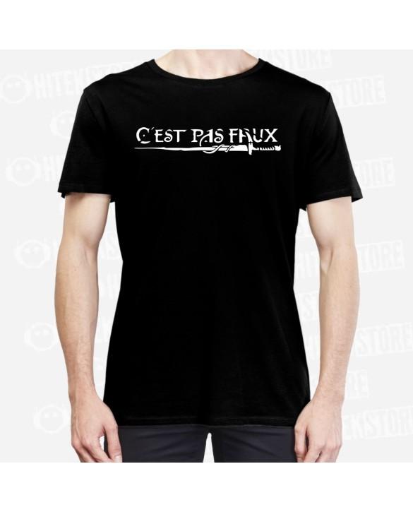 """T-shirt """"C'est Pas Faux"""" Version Noir"""