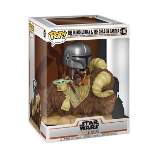 Funko Pop XL The Mandalorian & L'enfant sur Bantha