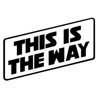 "T-shirt ""This is the way"" Version Blanc"