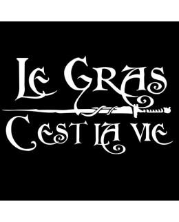 """T-shirt """"Le gras c'est la vie"""" Version Noir"""