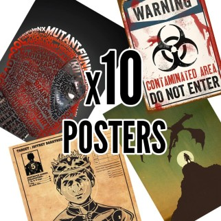 10 posters collector Hitek