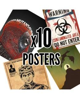 10 posters collector Hitek