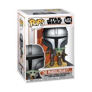 Figurine Funko Pop Mandalorian et The Child en Jet-Pack - Star Wars - Mandalorian N°402