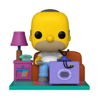 Figurine Funko Pop Deluxe Homer regarde la TV - The Simpsons