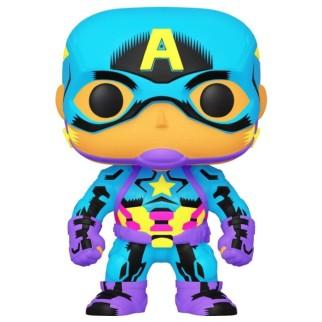 Figurine Funko Pop Captain America - Black Light Marvel N°648