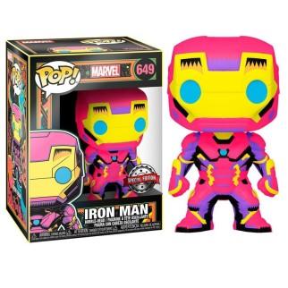 Figurine Funko Pop Iron Man - Black Light Marvel N°649