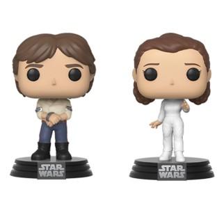 Figurine Funko Pop 2PK Han Solo et Leia - 40 ans de Star Wars : L'Empire Contre Attaque