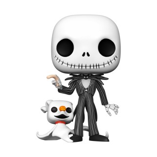 Figurine Funko Pop XXL Jack avec Zéro 25 cm- L'Étrange Noël de monsieur Jack N°809